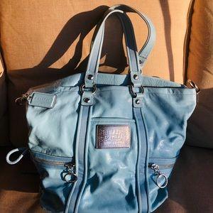 Light blue gorgeous soft leather Coach bag